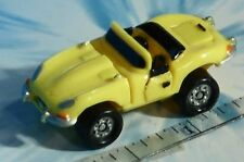 Micro Machines DELUXE Jaguar XKE Convertible YELLOW DOORS OPEN