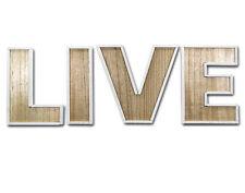 """""""LIVE"""" Buchstaben Dekoration,48 x 15,5 cm,Holzbuchstaben,Schriftzug,Schrift,NEU"""