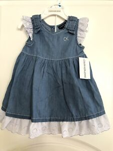 Calvin Klein Jeans Set Of Two Baby Girl Dress And Underwear 24 Months