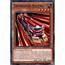 LED4-DE042 3x Triebwagen Raufbold 1. Edition YuGiOh! COMMON - BOOSTERFRESH - GER