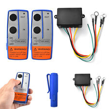 12V 100Ft Wireless Winch Remote Control With Two Handset For Car Truck ATV
