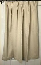 "Pair New Self Lined Blackout/Thermal Lined Beige Curtains 52""W/50""L"