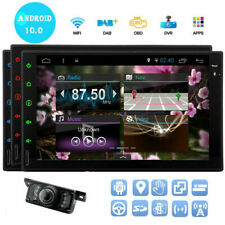 "Android Car Stereo Gps Navigation Radio Player Double Din Wifi 7"" Usb Sd Camera"