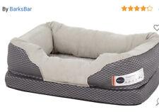 BarksBar Gray Orthopedic Dog Bed  Snuggly Sleeper with Solid Orthopedic Foam