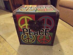 Peace Sign Ottoman/Storage Box