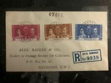 1937 Roseau Dominica King George VI Coronation FDC First Day Cover KG6
