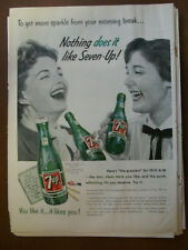 1955 VTG Orig Magazine Ad 7 Up Soda To Get More Sparke From Your Morning Break