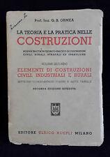 L24> LA TEORIA E LA PRATICA NELLE COSTRUZIONI - ULRICO HOEPLI VOL. II ANNO 1945