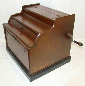 THE IMPROVED MANDOLINA ROLLER ORGAN MUSIC BOX  REBUILT PLAYS LOUD