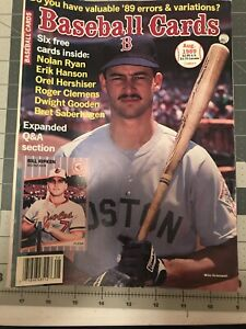 Baseball Cards Magazine August 1989 Mike Greenwell w/Mint Cards jhscd4