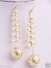 gorgeous 9k Yellow Gold Filled Elegant Ear Stud dangle hoop Earrings e507