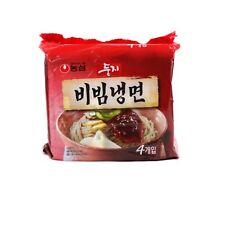 [Nongshim] Doongji Bibim Naengmyeon Korean Cold Noodles Spicy 4ea Instant Noodle