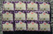 Hem Precious Lavender Incense 12 x 10 Cone, 120 Cones Floral Fragrance-Scent
