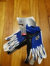 Fox Racing 360 gloves blue and white brand new with tags FOX race gloves large