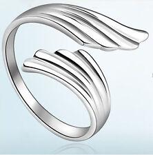 Ring 925 Sterling Silber plattiert größenverstellbar Engel Flügel stylisch cool