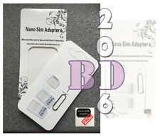 Universal Nano, White Micro, Mini Sim Card Adapter_Converter to Standard Sim