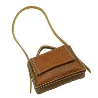 Dolls PU Leather Bag for 1/6 Blythe BJD Licca/Momoko/Azone Accs Light Brown