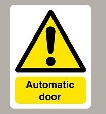 2 X AUTOMATIC DOOR STICKERS SIGN STICKER