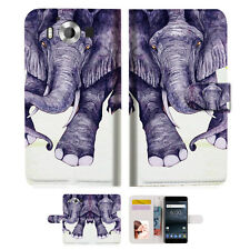 Elephant Wallet Case Cover For Nokia 6 2018 -- A007