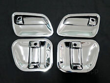 CHROME 3 4 DOORS HANDLE BOWL COVER TRIM VAN TOYOTA HIACE COMMUTER 2005 - 2014 09