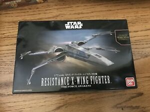 Bandai Resistance X-Wing Fighter The Force Awakens 2015 1:72 Model Kit