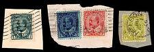 1903-08 CANADA #89-92 - KING EDWARD VII PIECES - USED - F/VF+ - CV$8.50 (E#1971)