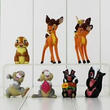 Bambi Cake Toppers Toys Decoration Birthday Party Bag Filler 7 pieces UK SELLER