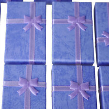 12x Purple Card Jewelry Gift Box for Pendant Bracelet Bangle Earring Wedding ED