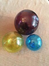 NEW! Lot of 3 Nautical/Beach Blown Glass Balls/Fishing Floats/Buoys