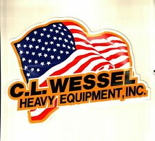 Nice Equiptment American Flag Coal Mining Sticker # 978