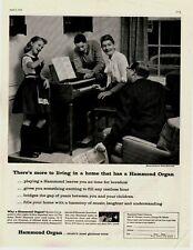 1958 Original Vintage Hammond Organ Magazine Ad