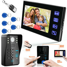 "7""LCD Password Video Door Phone Doorbell Intercom System Camera Touch Key Home"