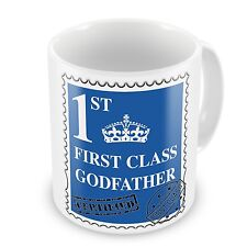 First Class Godfather Coffee / Tea Gift Mug - Blue - Brand New