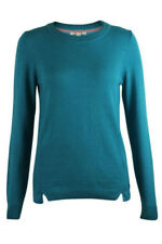 White Stuff Ladies Merino Wool Cotton Red Teal Jumper Sweater Pullover Top 8-18