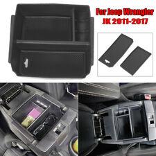 1* Black Car Interior Accessories Armrest Storage Box For Jeep Wrangler JK