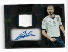 2017-18 Panini Select Soccer Jersey Auto card :Leonardo Bonucci #005/100