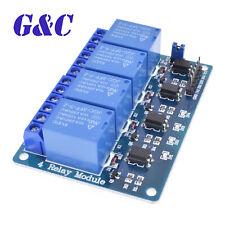Placa de relé 5V de 4 canales Módulo Optoacoplador LED para Arduino ARM AVR