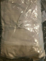"""Pottery Barn PB Essential Cotton & Linen Bed Skirt 14"""" Drop Queen Off White NEW"""