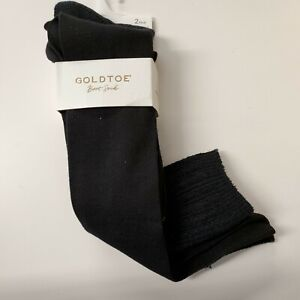🔥Black 🌺 Gold Toe Women's 2-Pk. Designer Fashion Socks Knee High