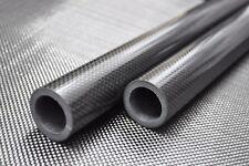 35mm x 25mm x 1000mm Roll Wrapped Carbon Fiber Tube 3K Glossy Tube 5mm big wall