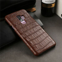 Luxury Crocodile Genuine Leather Case Cover For Samsung Galaxy S8 S9 Plus Note 9