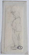 LEON LHERMITTE DESSIN GARCONNET GRIBOUILLANT CACHET D'ATELIER cat.raisonné 1876?