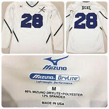 Mizuno DryLite Lightweight Performance Pullover Athletic Volleyball White Sz. M