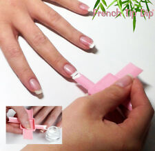 Pink French Manicure & Pedicure Kit. Flexible Reusable Use w Nail Polish or Gel