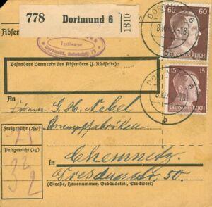 Paketkarte DR Dortmund 6 nach Chemnitz