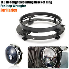 7'' LED Headlight Adapter Mounting Bracket For Jeep Wrangler Honda