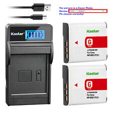 Kastar Battery LCD Charger for Sony NP-BG1 NP-FG1 Sony Cyber-shot DSC-H50 Camera