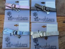 RARE ALEX and ANI DAUGHTERS Pink LEATHER BUCKLE SLIDE HEART Charm WRAP Bracelet