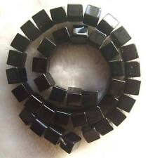 "10mm Black Onyx Square Loose Beads 15"""