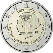 Belgien 2012  2€  75 Jahre Königin Elisabeth Musikwettbewerb  unz +gekapselt.